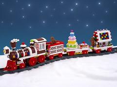Gingerbread Train (Swan Dutchman) Tags: lego gingerbread train christmas cookie candy cake seasonal holiday