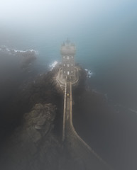 Foggy Day (ThibaultPoriel) Tags: lighthouse island lost seascape bretagne kermorvan pointe finistere ocean mist fog foggy