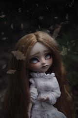 Autumn Leaves (Naekolyset) Tags: pullip pullips doll dolls pullipdoll junplanning groove pullipmio pullipfc pullipfullcustom ooak ooakdoll ooakdolls redhead blindeyes leaves autumn dark cold sadness melancholy fear forest blackmetal horror