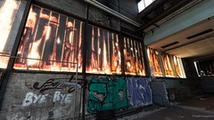 I am the god of hell fire (frankdorgathen) Tags: building lostplace abandoned industry dark wall window graffiti indoor