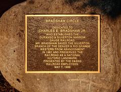 Charles Bradshaw plaque IMG_5251 Durango & Silverton RR (Recliner) Tags: baldwin dsng drg