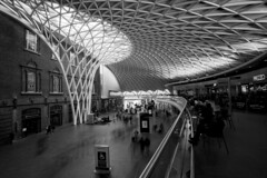 Kings Cross Station Landscape (www.davidrosenphotography.com) Tags: station london kingscross pattern slowexposure reflections