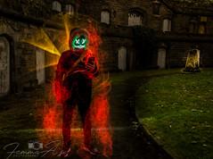 A devilish encounter..... (femmaryann) Tags: devil graveyard cemetery ghost spook halloween spooky spectacular flames onfire creepy