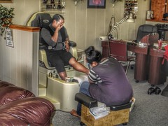 I TOLD MY HUSBAND I WAS GOING TO CHURCH. (NC Cigany) Tags: pedicure virginia danville beautyparlor women ladies