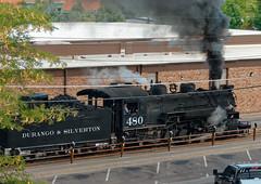 Loco 480 hauls the first morning train out of Durango R1005199 Durango & Silverton RR (Recliner) Tags: baldwin dsng drg