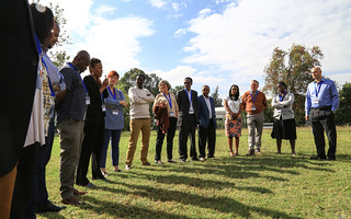Participants at the ice breaking session
