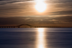 Heavy Metal (Bob90901) Tags: heavymetal robertmosescauseway greatsouthbay longisland newyork longexposure sunrise clouds bay sun bridge water sky rpg90901 morning shore canon 6d canonef70200mmf28lisiiusm canon70200f28lll filter neutraldensity nd lee superstopper nd15 goldenhour suffolkcounty 2016 september 0654 bergenpoint westbabylon