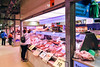 Melbourne 2017:  Queen Victoria Market Buying Meat From A Meat Store (Wing Yau Au Yeong) Tags: australia butcher buying grocer interior meat melbourne queenvictoriamarket selling shop shopkeeper store streetphotography victoria au