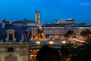 Tour Saint-Jacques & Centre Pompidou, Paris