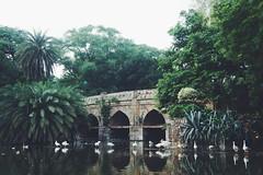 Athpula Bridge (atifamin24) Tags: noperson bridge ducks close nature walk morning eight piered athpula mughal architecture reflection water trees natural arches new delhi india travel places