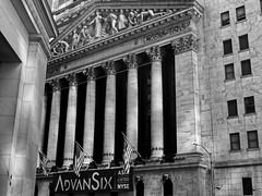 Stock Exchange (Leguman vs the Blender) Tags: nyc newyork nikond90 usa bw manhattan