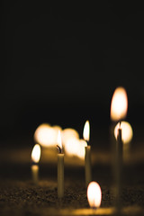 Fired Up (human_wildlife) Tags: candle fire wish pray light warmth warm flames small close macro bokeh deph view sony a6000 samyang 85mm greatphoto