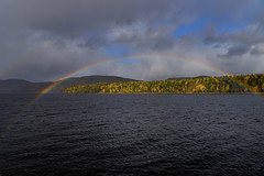 Even The Rainbows Were Trying (Unsuccessfully) To Outshine The West Coast Autumn Color Today (Zircon_215) Tags: rainbow doublerainbow autumnrainbow fallrainbow autumn fall autumncolor fallcolor westcoast westcoastautumn cornerbrook