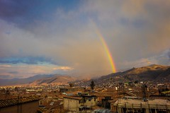 A beautiful rainbow in Cusco at the apartment.