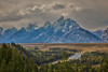 Snake River Overlook (Rick Derevan) Tags: peaks outside grandtetons river mountains grandtetonnationalpark snakeriveroverlook snakeriver things wilderness clouds wyoming