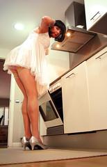 Something good's cookin'... (Isabella Ross) Tags: cd tv tg crossdresser transvestite transgender lingerie stockings heels panties
