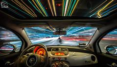 Into the Light (Luca_Mapelli) Tags: night colours raw exposure long nikon glare span speed velocità veloce strada street trails scie movement motion movimento 500 fiat car light d610 mapelli luca photo