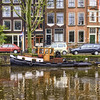 Mokum (Jack Heald) Tags: amsterdam netherlands jordaan canal boat mokum city fall tugboat restored vintage heald jack nikon tourist travel tourism water reflections