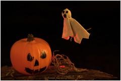 Happy Halloween (HP034647) (Hetwie) Tags: macromondays pumpkin spook halloween macromaandag ghost pompoen macro ahminis