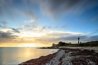 Sonnenaufgang am Strand von Marienleuchte