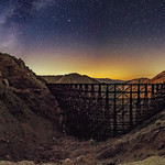 Milky Way and Goat Canyon Trestle Panorama thumbnail