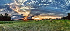 IMG_4465-68Ptzl1RTBbLGER2 (ultravivid imaging) Tags: ultravividimaging ultra vivid imaging ultravivid colorful canon canon5dmk2 clouds landscape autumn evening fields farm panoramic pennsylvania pa scenic rural vista balesofhay sunsetclouds sunset