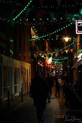Temple Bar, Dublin (f.bigslave) Tags: temple bar dublin pubs beer night life city ireland british irish pub lights green national pride clover people walking canon eos 600d 18 55 efs