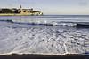 Espuma de mar (Javi Sánchez Photography) Tags: gijon asturias playa beach san lorenzo agua sand water morning walk lonely sun summer espuma olas waves sunrise amanecer spain coast sea