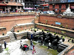 Durbar Square of Patan, Nepal August 2011 (leonyaakov) Tags: patan nepal hinduism hindustan holy water travel history religion capitalcity citycenter citiscape bricks kathmandu sunnyday summer durbar square monument