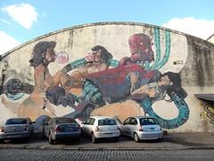 Robot player (aestheticsofcrisis) Tags: street art urban intervention streetart urbanart guerillaart graffiti postgraffiti buenos aires bsas argentina la boca barracas