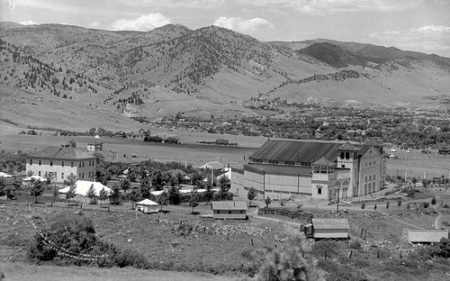 Photo - Overview of the Colorado Chautauqua (c. 1910).