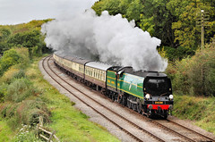 Spam Can Finale. (neilh156) Tags: steam steamloco steamengine steamrailway railway 34081 92squadron kinchleylane greatcentralrailway greatcentralrailwayautumngala2017 pacificloco bulleidpacific battleofbritainclass battleofbritain battleofbritainpacific southernrailway pacific bulleid