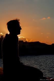 Sunset's silhouette
