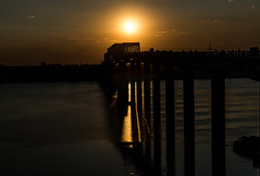 © patrickrancoule-2359 (Patrick RANCOULE) Tags: bénarès gange inde ramnagar varanasi couchant pont soleil