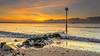 Splash (nicklucas2) Tags: seascape beach boat groyne isleofwight pebble sea seaside seaweed solent wave cloud sun sunrise