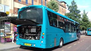 Arriva North East: Wright Streetlite Max Micro Hybrid (NK15AAE/1590)