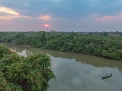 Pixiam River at dusk, Pantanal (Joyce Pinsker) Tags: brazil justjaguarstour matogrosso naturetrekwildlifeholidays pantanal pixaimriver september2017 viewtower