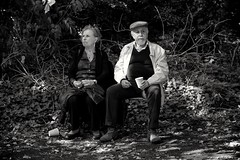 (Daniel-Charles) Tags: couple ederly market lady man woman bw white black london england alexandra palace hornsey muswell hill vintage park farmers