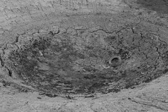 a big pit on the ground (Sajad.a) Tags: pit desert no life bw tire dry nowater