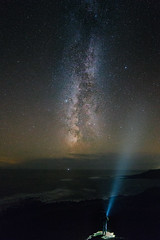 God knows your lonely soul (Tim Bow Photography) Tags: milkyway timboss81 welsh british astrophotography milky landscape stars gower rhossili loneperson lastmanonearth torch torchlight timbowphotography nightscape
