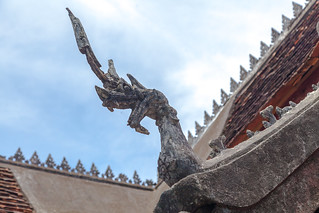 The dragon at the top of Mount Phousi
