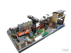 Detail (trz_terez) Tags: terez trz lego moc legomoc train y8000 potence remms rails diorama ttx loco