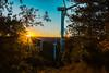 Wind park sunset (abdiefff) Tags: wind generators sunset renewable energy green ecology life mountain trees sun