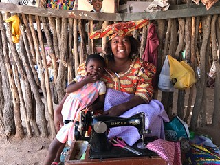Herero Woman and Daughter Damaraland Namibia Southern Africa