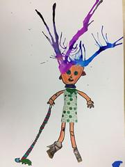 Art club 10 (curious pixel) Tags: ink splat splatter artclub art school ks1 character illustration children collage creative bonkers