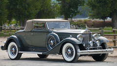 1933 Packard 1004 Super Eight Coupe Roadster - gray (Pat Durkin OC) Tags: packard 1004 1933packard supereight couperoadster gray wirewheels whitewalltires convertible