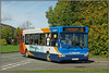 35174 (YET AGAIN) (Jason 87030) Tags: dennis dart rugby slf pointer stagecoach 35174 kx56kgz daneholmeavenue daventry northants town sunny morning october ilce a6000 alpha nex camera sony bus service route 11 2017 common sight photo capture image vehicle blue colour trees ashbyroad