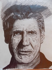 Harrison Ford Portrait (rachael242) Tags: inktober2017 inktober ink pencil paper sketch paint painting portrait art create creative harrissonford actor starwars hansolo indiannajones bladerunner juicy