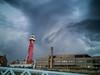 vuurtoren (Wolf Jan) Tags: leuchtturm light vuurtoren unwetter wetter weather holland nederland niederlande