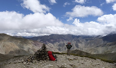 Almost on top (nokkie1) Tags: ladakh india mountainpass me view contrast clouds